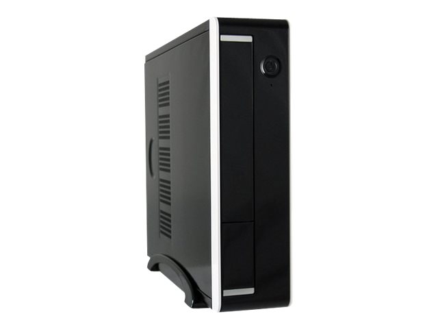 LC Power LC-1360II - Desktop Slimline - Mini-ITX 90 Watt (ITX) - Schwarz, weiß - USB/Audio