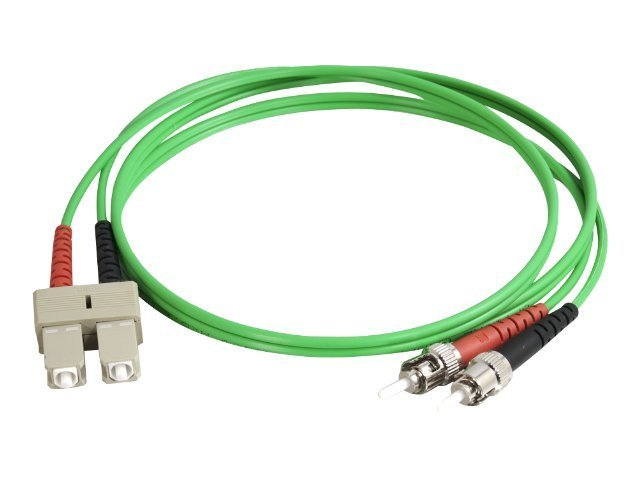 C2G 2m SC-ST 50/125 OM2 Duplex Multimode PVC Fiber Optic Cable - Green - patch cable - 2 m - green
