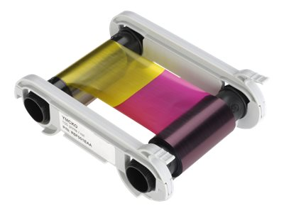 Evolis High Trust YMCKO Color Ribbon - couleur (cyan, magenta, jaune, noir résine, revêtement transparent) - ruban d\'impression (couleur)