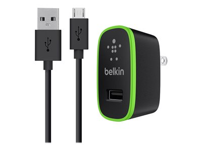 Belkin Universal Home Charger Power adapter 12 Watt 2.4 A (USB) on cable: Micro-USB -