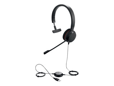Jabra Evolve 20 MS mono Kabling Sort Headset