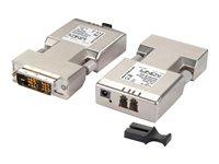 LINDY Fibre Optic DVI-D Extender (Transmitter and Receiver units) - Video Extender