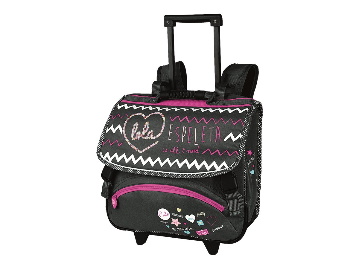 cartable lola espeleta 38cm roulettes cartables roulettes. Black Bedroom Furniture Sets. Home Design Ideas