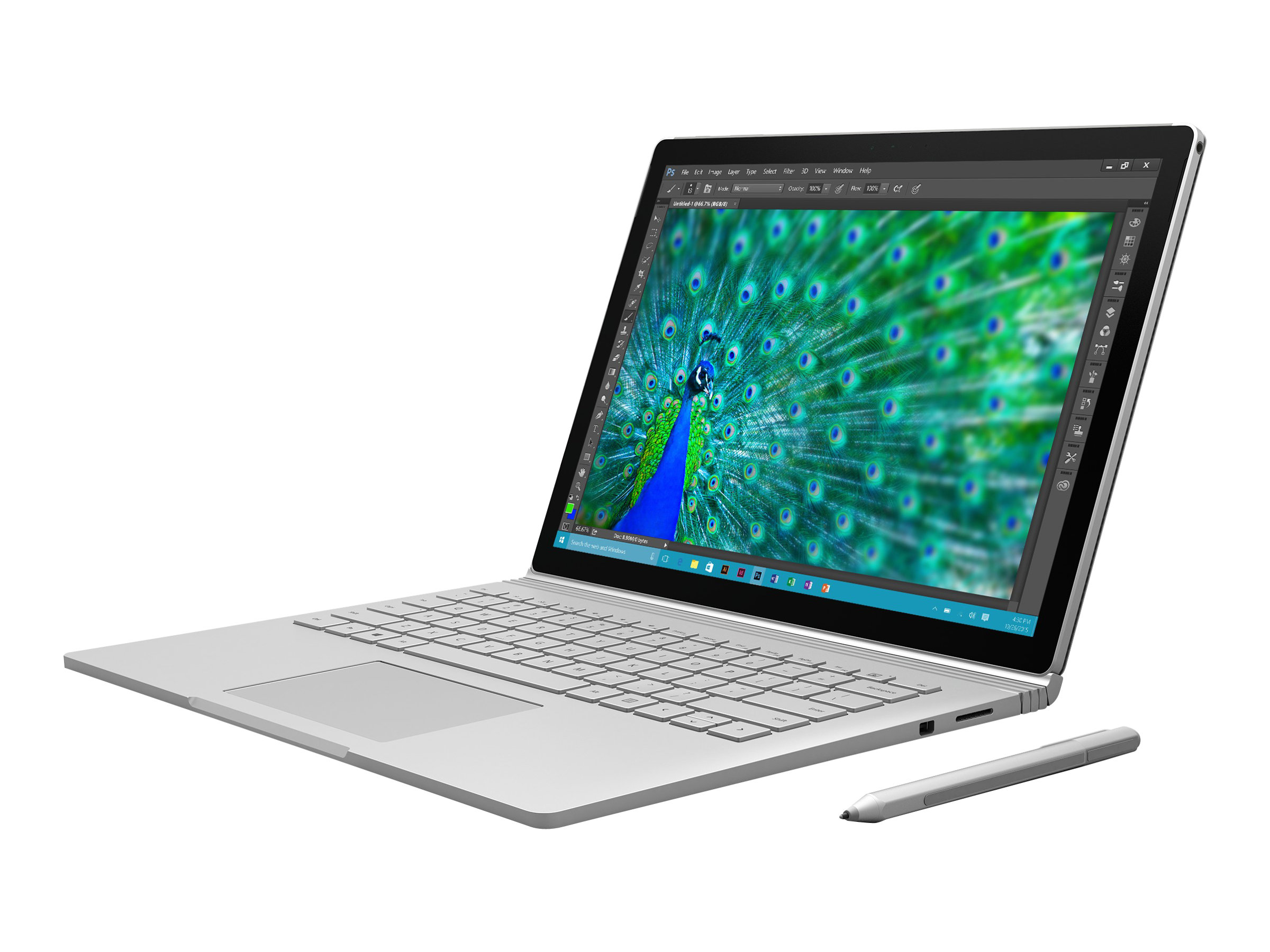 Microsoft Surface Book - Tablet - mit abnehmbarer Tastatur - Core i7 6600U / 2.6 GHz - Win 10 Pro 64-Bit - 16 GB RAM