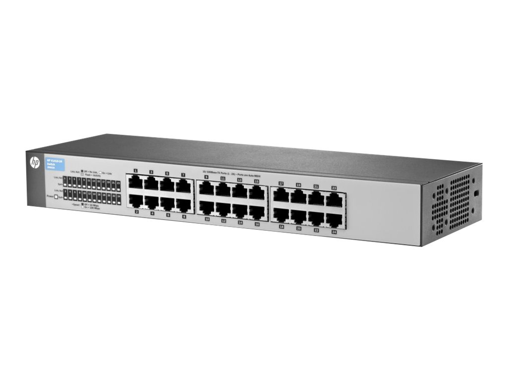 HPE OfficeConnect 1410 24 - switch - 24 ports - unmanaged - rack-mountable