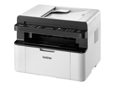 Brother MFC-1910W - Multifunction printer - B/W - laser - Legal (216 x 356 mm) (original) - A4/Legal (media) - up to 20 ppm (copying) - up to 20 ppm (printing) - 150 sheets - 14.4 Kbps - USB 2.0, Wi-Fi(n)