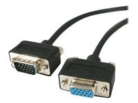 StarTech.com 15 ft Low Profile High Res Monitor VGA Extension Cable M/F