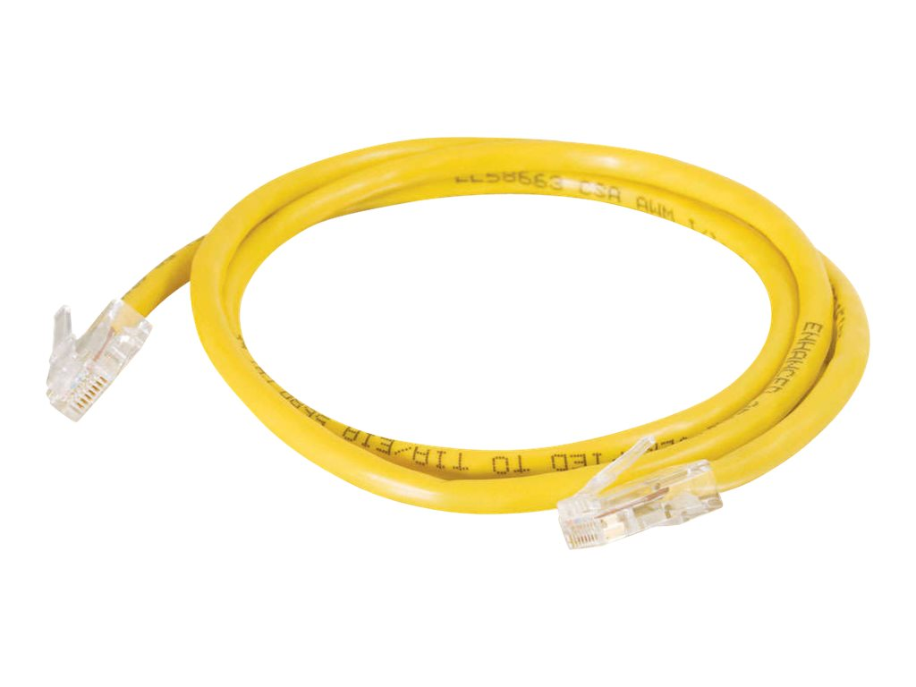 C2G Cat5e Non-Booted Unshielded (UTP) Network Patch Cable - patch cable - 31 cm - yellow