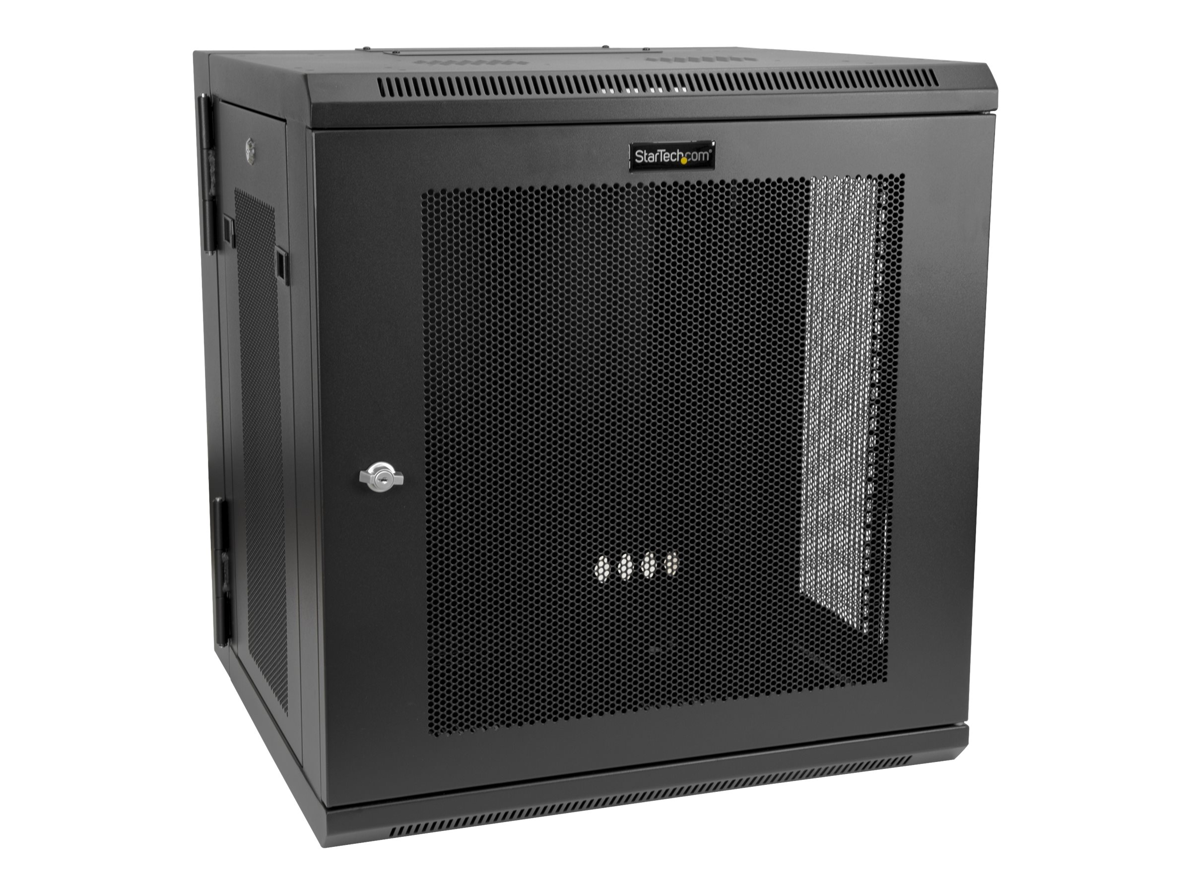 """StarTech.com 12U 19"""" Wall Mount Network Cabinet, 16"""" Deep Hinged Locking IT Network Switch Depth Enclosure, Vented Comp…"""