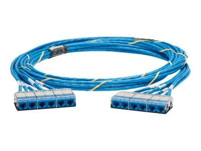 Panduit QuickNet Pre-Terminated TX6A-SD 10Gig Cable Assembly - network cable - 9.14 m - blue