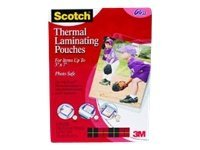 Scotch 20-pack clear 5 in x 7 in lamination pouches