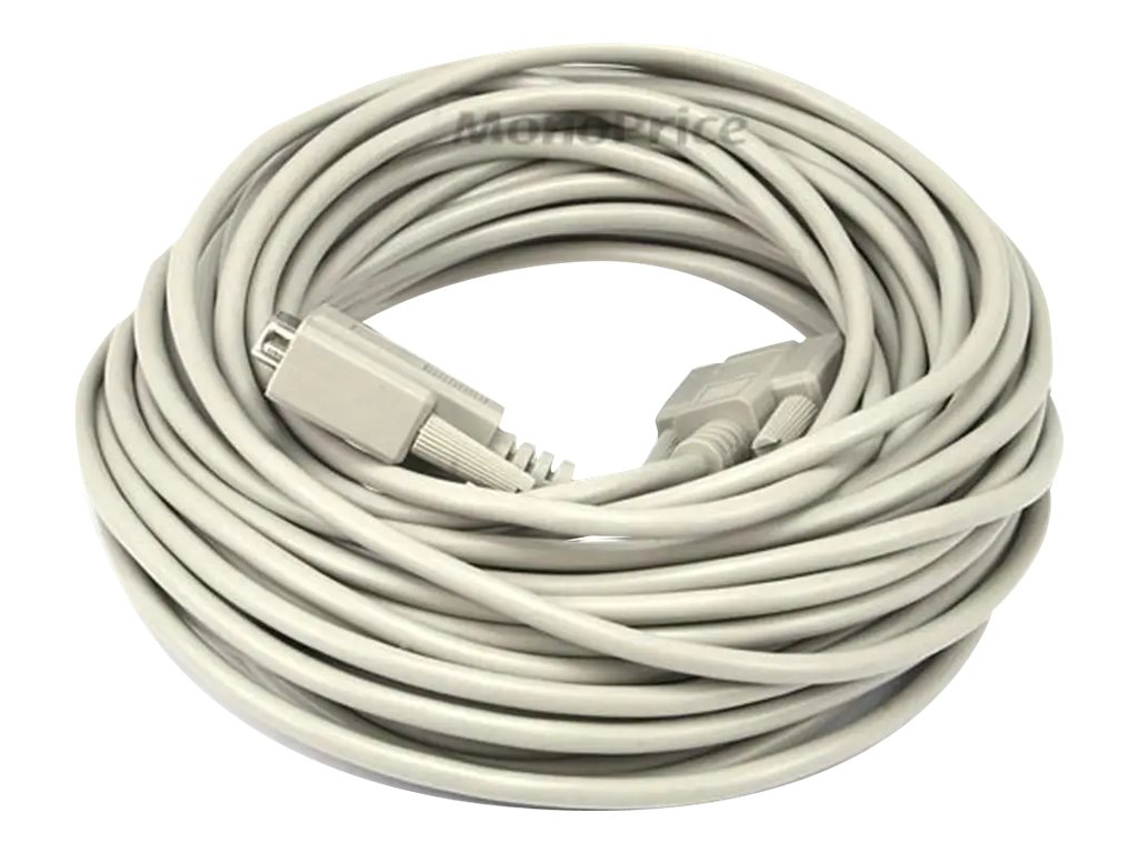 Monoprice serial extension cable - DB-9 to DB-9 - 15.2 m
