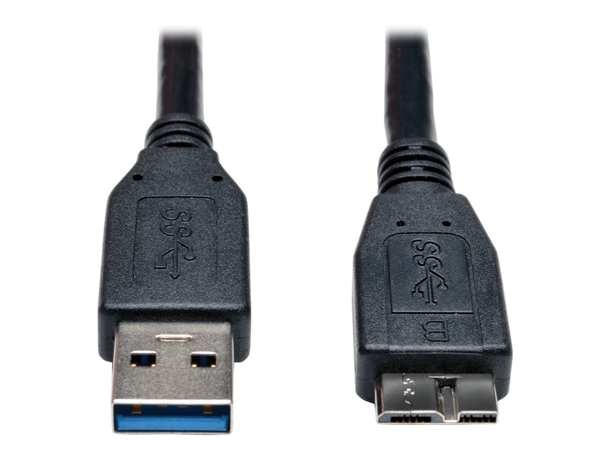Tripp Lite 1ft USB 3.0 SuperSpeed Device Cable USB-A to USB Micro-B M/M Black 10 Pack 1' - USB cable - 30 cm