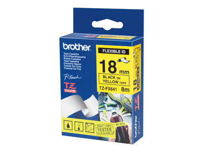 Brother TZe FX641 Fleksibel tape  (1,8 cm x 8 m) 1rulle(r)