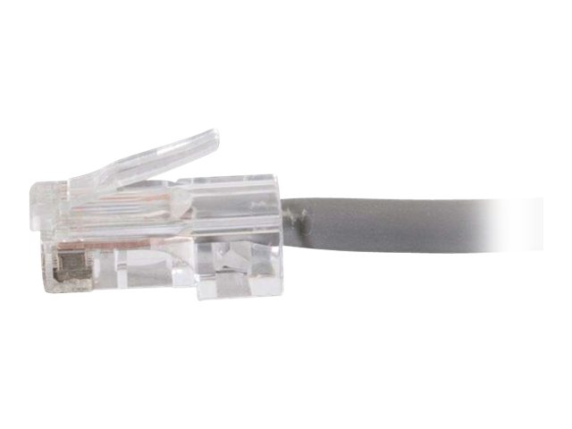 C2G Cat5e Non-Booted Network Patch Cable (Plenum-Rated) - patch cable - 3.1 m - gray
