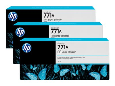 HP 771A Tri-pack 3-pack 775 ml photo black original ink cartridge