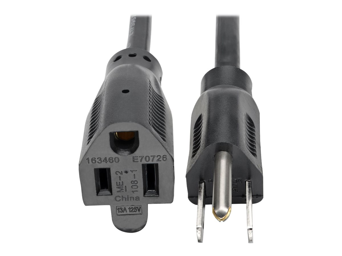 Tripp Lite 3ft Power Cord Extension Cable 5-15P to 5-15R 13A 16AWG 3' - power extension cable - 91 cm