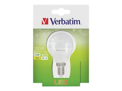 Verbatim - LED-Glühlampe - Form: Mini-Ball - matt Finish - E14 - 4.5 W (Entsprechung 30 W)