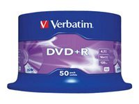 Verbatim - 50 x DVD+R - 4.7 GB 16x - matt silver - spindle