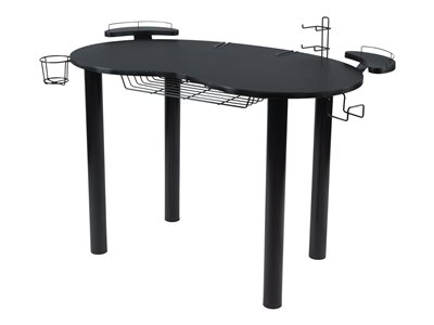 Atlantic Eclipse Gaming Desk Table curved black