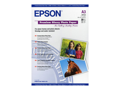 Papier photo Epson Premium - papier photo - 20 feuille(s) - A3 - 255 g/m²