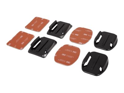 Urban Factory Go Pro adhesive mounts: 2x flat + 2x curved - universal for all GoPro cameras - Système de support - fixation adhésive - pour GoPro HD HERO; HD HERO2; HERO3; HERO3+