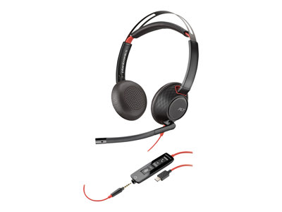 Plantronics Blackwire 5220 Kabling Sort Headset