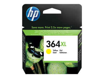 HP 364XL - High Yield - yellow - original - ink cartridge - for Deskjet 35XX; Photosmart 55XX, 55XX B111, 65XX, 65XX B211, 7510 C311, 7520, eStation C510