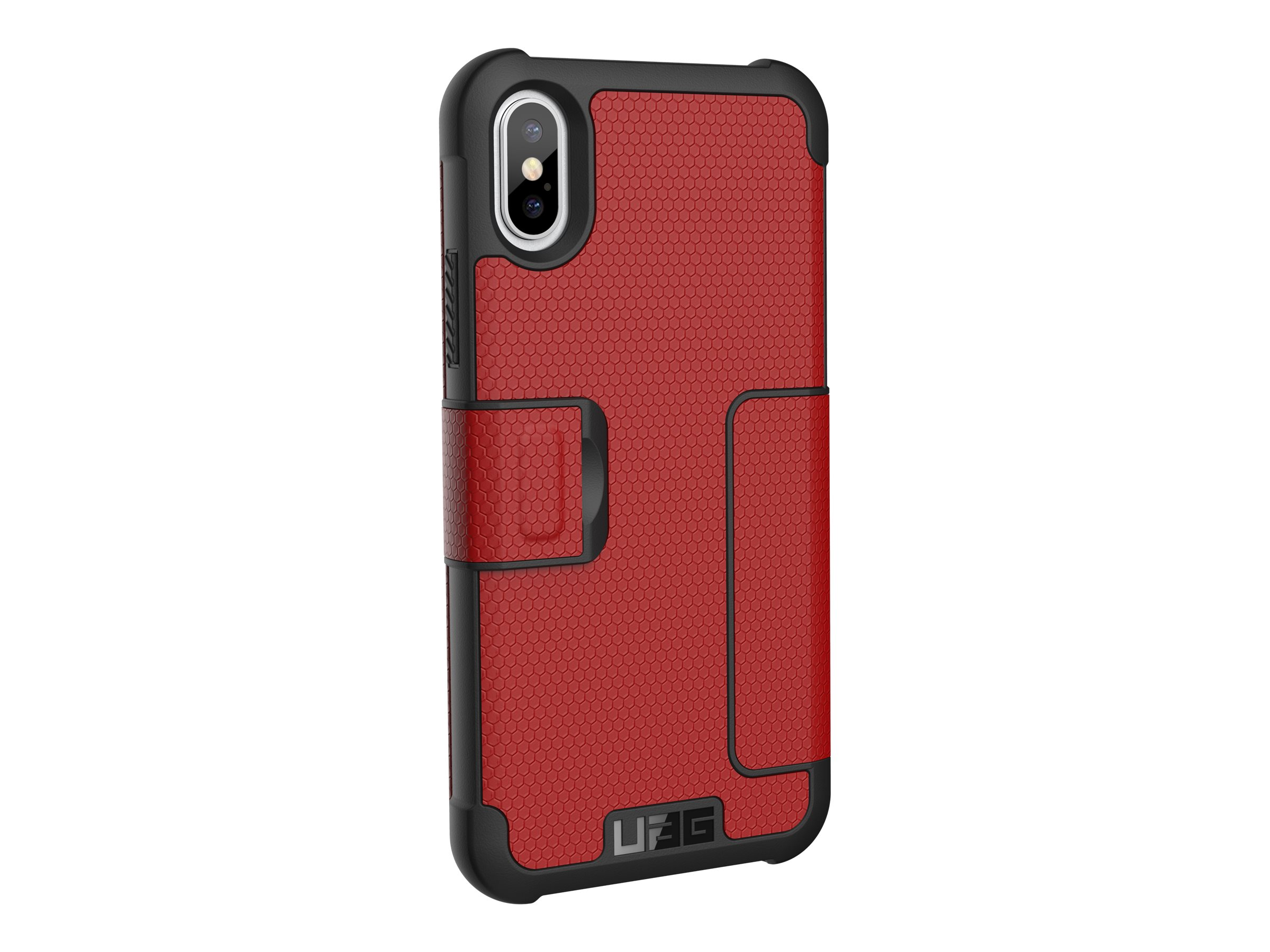 UAG Rugged Case for iPhone Xs / X [5.8-inch screen] - Magma Metropolis - flip cover for cell phone