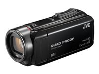 JVC EverioR GZ-RX610 - Camcorder - 1080p / 50 fps - 2.5 MP - 40x optical zoom - Konica Minolta - flash 8 - flash card - Wi-Fi - underwater up to 5 m - black