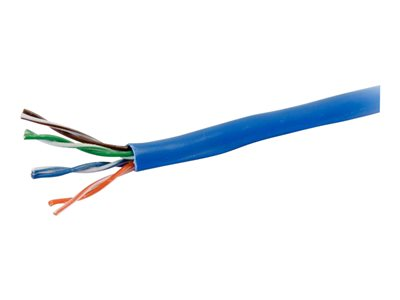 C2G Cat5e Bulk Unshielded (UTP) Network Cable with Solid Conductors Plenum CMP-Rated