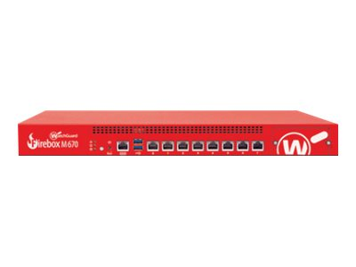WatchGuard Firebox M670 - security appliance - WatchGuard Trade-Up Program - with 3 years Basic Security Suite