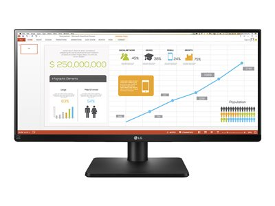 LG 29UB67-B LED monitor 29INCH (28.8INCH viewable) 2560 x 1080 IPS 300 cd/m² 1000:1 5 ms