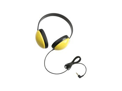 Califone 2800-YL Headphones full size wired 3.5 mm jack yellow