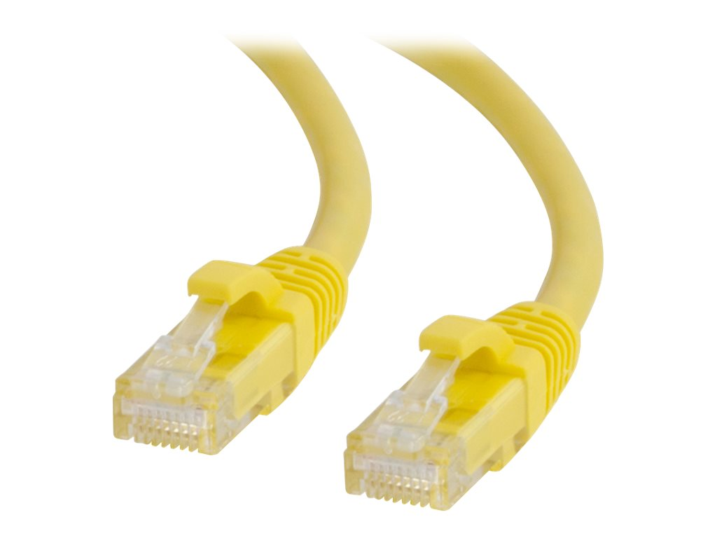 C2G 30ft Cat6 Snagless Unshielded (UTP) Network Patch Ethernet Cable Yellow - patch cable - 9.14 m - yellow
