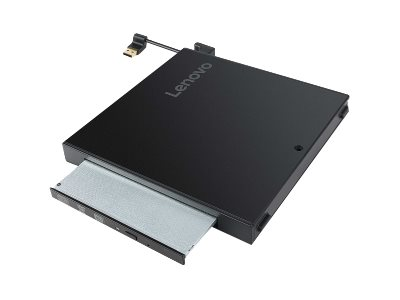 Lenovo Tiny IV DVD Burner Kit - Laufwerk - DVD-Writer - USB - extern - für ThinkCentre M710q (Tiny Desktop); M910q (Tiny Desktop)