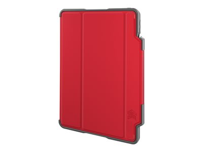 STM dux plus Flip cover for tablet polycarbonate, thermoplastic polyurethane (TPU) red