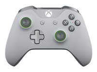 Microsoft Xbox Wireless Controller - Gamepad - wireless - Bluetooth - gray, green - for PC, Microsoft Xbox One, Microsoft Xbox One S, Microsoft Xbox One X
