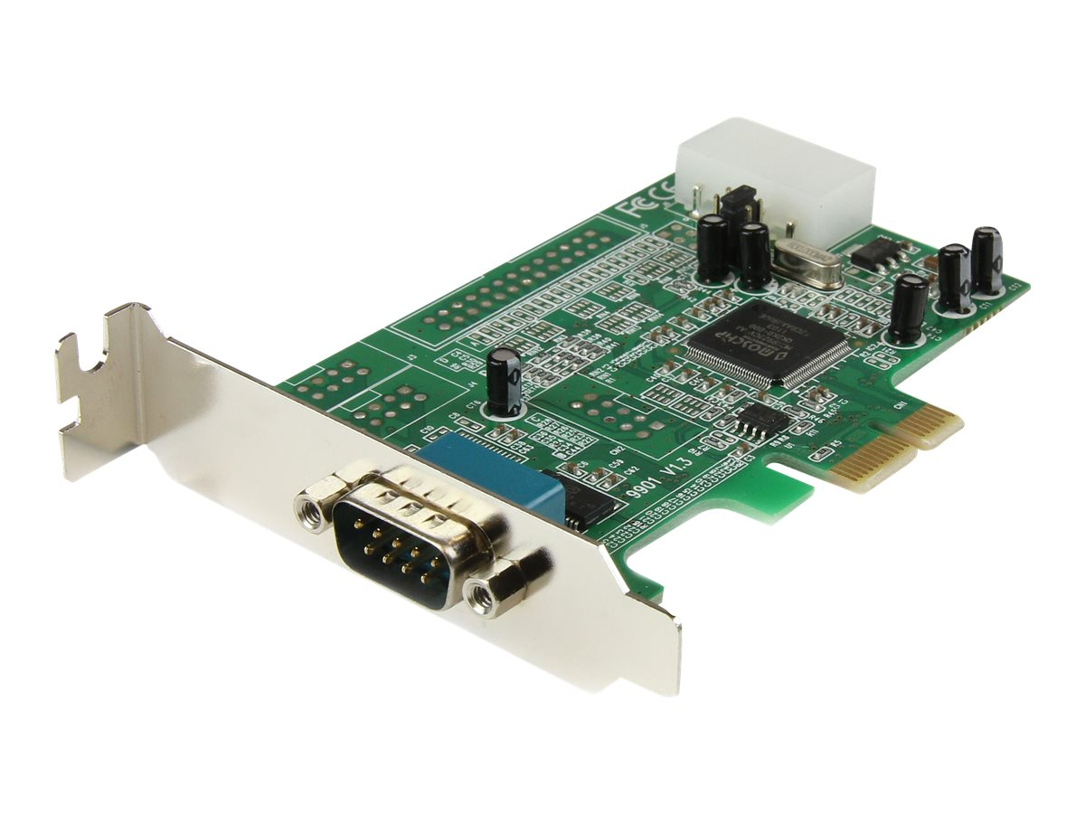 StarTech.com 1 Port Low Profile Native RS232 PCI Express Serial Card with 16550 UART (PEX1S553LP) - serial adapter