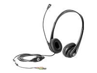 HP Business Headset v2 - Headset - full size - wired - promo - for HP 285 G6, 295 G6; Desktop Pro 300 G6; Elite Slice G2; EliteBook 840 G8; Pro c645
