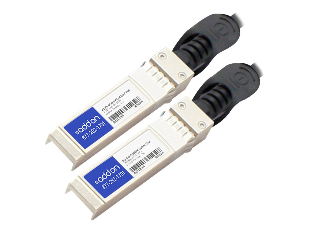 AddOn 10GBase-CU direct attach cable - TAA Compliant - 7 m