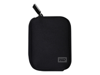 WD My Passport WDBABK0000NBK - Storage drive carrying case - black - for My Passport Essential WDBAAA4000, WDBAAA5000, WDBACY7500; My Passport for Mac WDBAAB2500