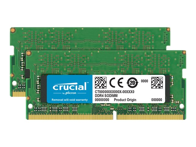 Image of Crucial - DDR4 - 32 GB: 2 x 16 GB - SO-DIMM 260-pin - unbuffered
