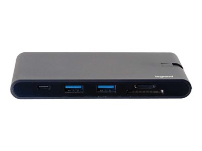 C2G USB C Dock with HDMI, VGA, Ethernet, USB, SD & Power Delivery up to 100W