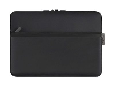 Belkin Pocket - Protective sleeve for tablet - durable neoprene - blacktop - for Microsoft Surface Pro (12 in)