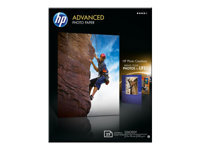 HP Advanced Glossy Photo Paper - Glossy - 130 x 180 mm 25 sheet(s) photo paper - for Deskjet 2050 J510; Officejet 6000 E609; PageWide MFP 377; PageWide Pro 452