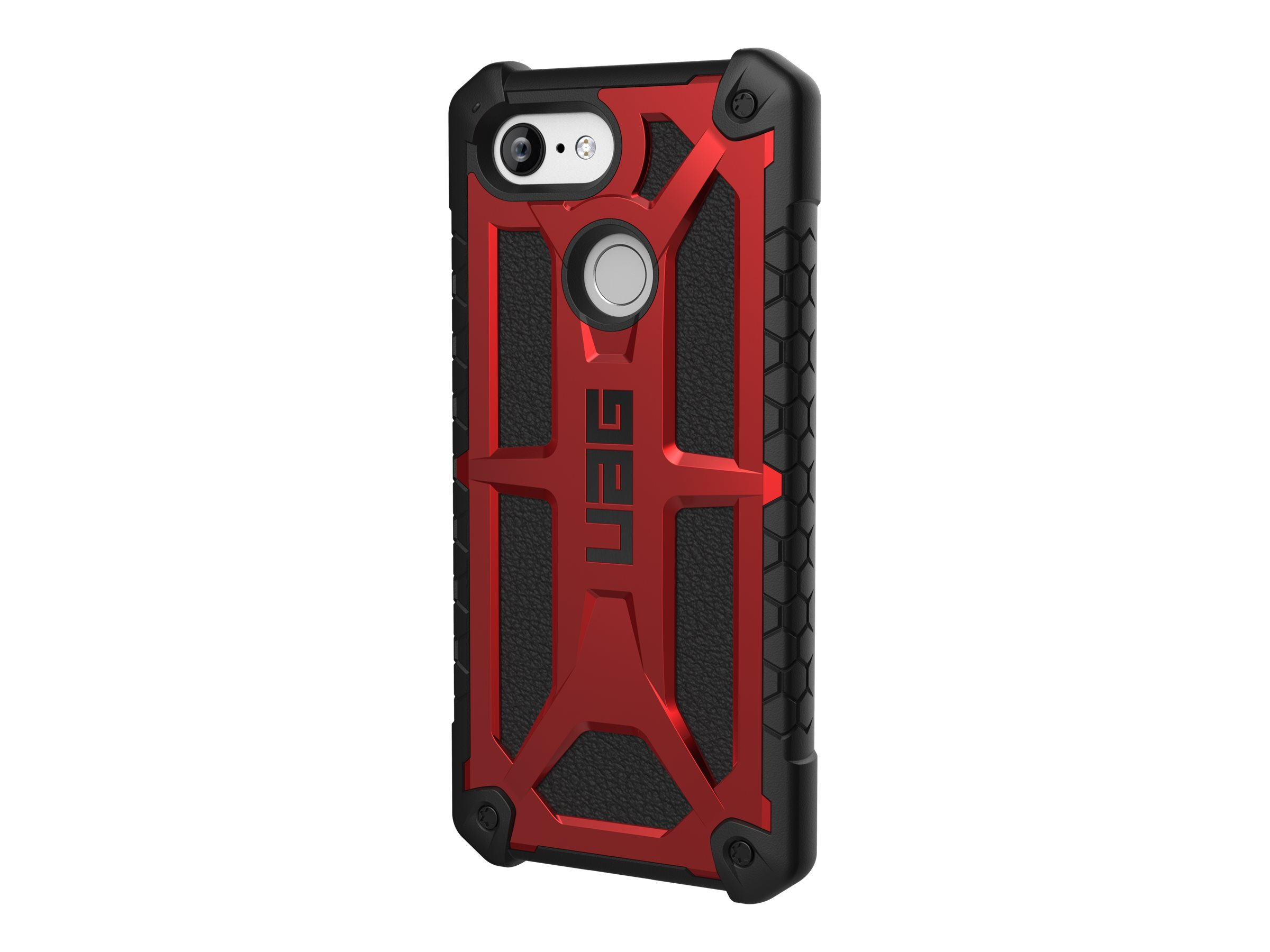 UAG Rugged Case for Google Pixel 3 [5.5-inch screen] - Monarch Crimson - back cover for cell phone