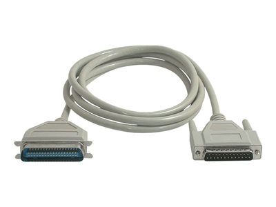 C2G Printer cable DB-25 (M) to 36 pin Centronics (M) 6 ft beige