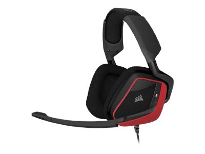 Corsair Gaming VOID PRO Surround - Headset - Full-Size - USB, 3,5 mm Stecker - Rot