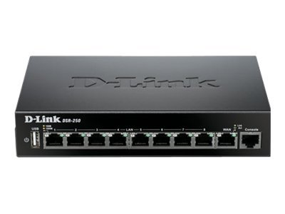 D-Link Unified Services Router DSR-250 Router 8-port switch GigE